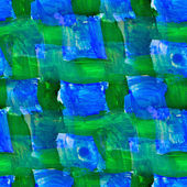 Seamless painting Blue green grid square watercolor with bright — Stock Photo