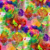 Seamless painting red yellow orange green blue watercolor with b — Stock Photo