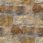 Granite brown decorative brick wall seamless background texture — Stock Photo