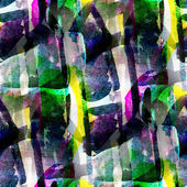 Abstract watercolor Blue green yellow seamless texture hand pain — Stock Photo