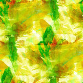 Abstract yellow green brown watercolor seamless texture hand pai — Stock Photo