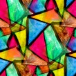 Mosaic pattern of bright colorful watercolor seamless background — Stock Photo #15800105