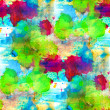 Blue green with blotches seamless background watercolor macro te — Lizenzfreies Foto