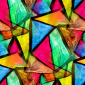 Mosaic pattern of bright colorful watercolor seamless background — Stock Photo