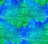 Bezszwowe, malarstwo niebieski zielony akwarela z jasne pędzla — Zdjęcie stockowe
