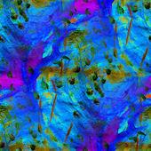 Bezszwowe, niebieski fioletowy, zielony akwarela pędzelkiem jasny obraz — Zdjęcie stockowe