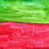 Red band green watercolor paint texture — Stock Photo