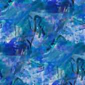 Abstract watercolor blue seamless texture hand painted backgroun — Stock Photo