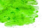 绿色抽象绘画水彩手工制作 — 图库照片