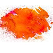 Orange spot blotch watercolors isolated on white background — Stock Photo