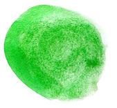 Texture de pointeur aquarelle art vert spot isolé sur un baccalauréat blanc — Photo