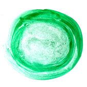 Color círculo verde pintura acuarela pincel acuarela movimiento bac — Foto de Stock