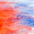 Red blue art macro texture watercolors with brush strokes — Foto de stock #15829789
