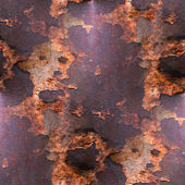 Antiguo fondo de hierro rojo de textura con moho y rayado — Foto de Stock