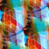Abstract red, blue spring pattern watercolor seamless art macro — Stock Photo