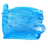 Paint brush blue pointer watercolor texture stroke color isolate — Stock Photo
