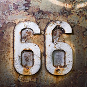66 texture units and the number of rust — Stock Photo