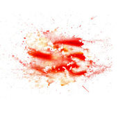 Abstract watercolor blot texture patch of red isolated on white — Stock fotografie