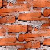 Seamless texture of red brick wall — Stock Photo