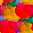 Seamless red yellow green background watercolor water abstract a — ストック写真