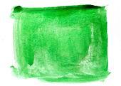 Plats konst akvarell gröna torget textur blå isolerade på ett dugg — Stockfoto