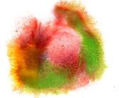 Brush watercolour yellow red green stroke color spot blotch wate — Stock Photo