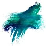 Blue green watercolors spot blotch isolated — Stock Photo #15859323