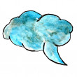 Стоковое фото: Blue speech bubbles watercolor paint brush watercolour color str