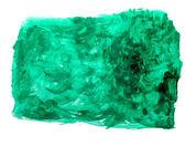 Aquarell pinsel grüner quadratisch abstrakter kunst künstlerbedarf isoliert bac — Stockfoto