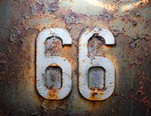 66 route rust americana house texture iron — Stock Photo