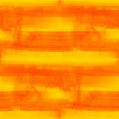 Seamless yellow watercolor background orange stripes handmade — Stock Photo