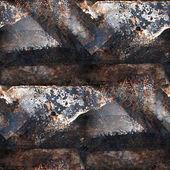 Grunge rostige nahtlose Textur aus Eisen mit einem Platz für Nachrichten — Stockfoto