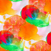 Watercolor red yellow green orange seamless abstract texture han — Stock Photo