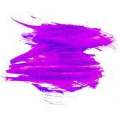 Purple spot blotch watercolors isolated on white background — Stock Photo