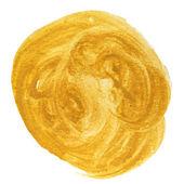Spot yellow macro blotch texture isolated white background — Stock Photo