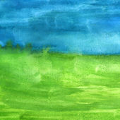 Macro texture blue green watercolors with brush strokes — Stock Photo