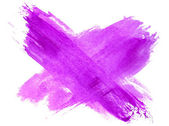 Spot watercolor table blotch texture purple isolated on a white — Stock Photo