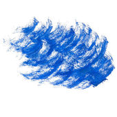Paint ink brush stroke dye blue brush texture watercolor isolate — Stock Photo