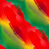 Band gouache seamless background green red yellow — Stock Photo