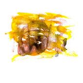 Textura de mancha mancha marrom amarelo macro isolada em um backg branco — Foto Stock