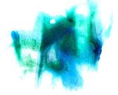 Aquarel groene borstel beroerte abstracte kunst artistieke geïsoleerd bac — Stockfoto