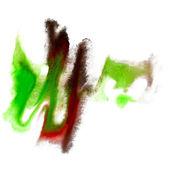 Ter plaatse groene zwarte aquarel blotch textuur geïsoleerd op een witte b — Stockfoto
