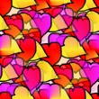 Seamless texture of heart of Valentine's Day Background - Stock Photo