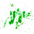 Stock Photo: Green smear spot blot is isolated on white background