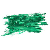 Green watercolors spot blotch isolated — Stock Photo