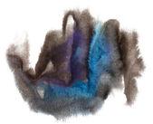 Watercolor brush blue black purple stroke abstract art artistic — Stock Photo