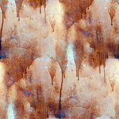 Rust paint flowed seamless texture wallpaper iron — Stock Photo