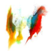 Rot blau gelb grün makro fleck fleck textur isoliert am pfingstmontag — Stockfoto