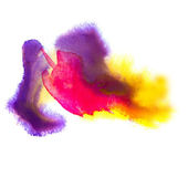 Tekstura miejscu plamę fioletowy czerwony żółty makro na białym tle — Zdjęcie stockowe