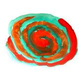 Aquarell textur wasser grün rot aquarell isoliert auf weiss — Stockfoto